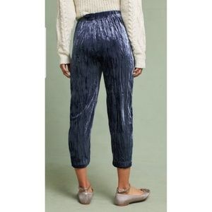 Anthropologie Pants - New Anthropologie Velvet Cropped Pants Sz S Blue